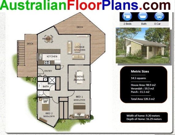 120 M2 | 1291 Sq Foot | 2 Bedroom House Plan | 2 Bed Granny Flat | 2  Bedroom Granny Flat | Modern Granny Flat | 2 Bed Small Home Plan