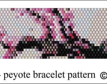 Cherry Blossom & Bird Bracelet Pattern .PDF File