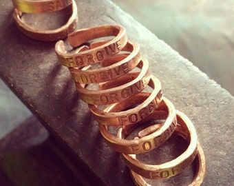 Forgive ( stamped) Copper Ring