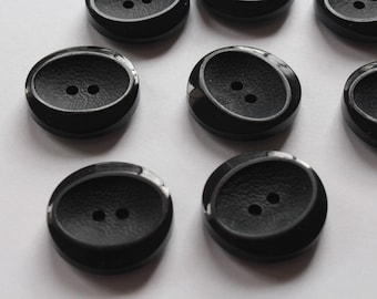 Black Two Hole Buttons