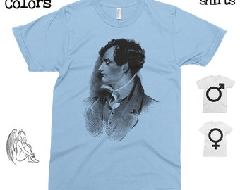 Lord Byron T-shirt, Tee, American Apparel, Poet, Lord Byron Poems, Love, Lord Byron Quotes, Cute Gift