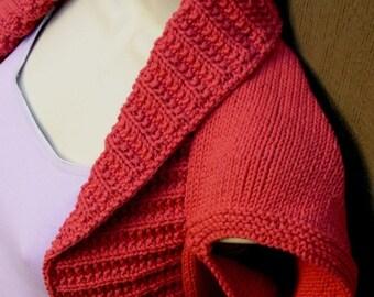 Terra Cotta Knit Shrug, size:Medium  bolero shrug vest orange coral terra cotta bridal wedding prom evening formal cover-up