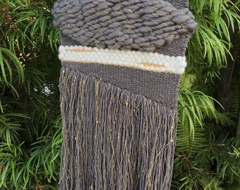 Gold and grey weaving