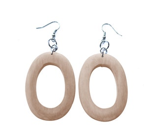 3 Pairs Wood Earrings, Unfinished Wood Earrings, Wood Jewelry, Ecofriendly Jewelry, Craft Supply
