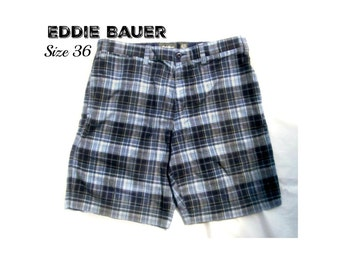 men's Plaid shorts, casual shorts, men's shorts, summer shorts,  90's shorts, size -36 shorts, # 7