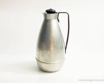 Vintage Aluminum Thermos / Aluminum Vacuum Flask 1 Liter Working
