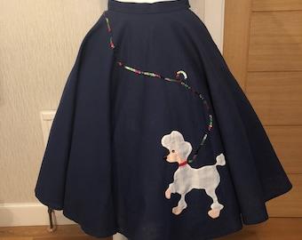 1950's hand embellished poodle skirt