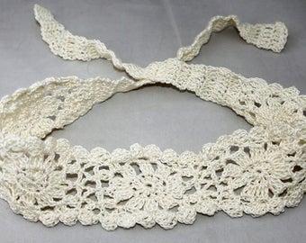 White hairband, hair accessory