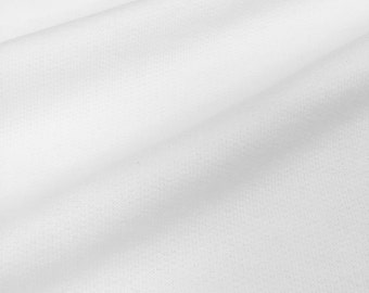 Heavy Poly/Cotton White Fleece