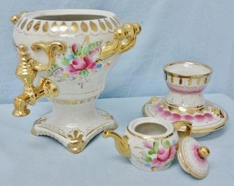 Russian Gzhel Porcelain Samovar