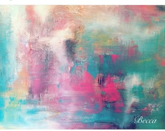 "Abstract Art ""Fairy Floss"""