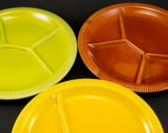 Vintage Fondue Plates Sushi Plates Made in Italy Set of 3 Available