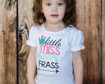 Little Miss Sassa frass Embroidered tee