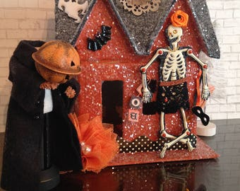 Halloween House, Haunted House, Skeletons, Skeleton, Ghosts, Halloween Decor, Halloween Decorations, Creepy Decorations