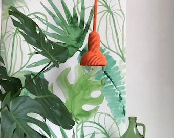 Lampe, lampe à suspendre au plafond en orange