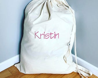 Personalized Laundry Bag- Monogrammed Laundry Bag- Personalized Camp Bag