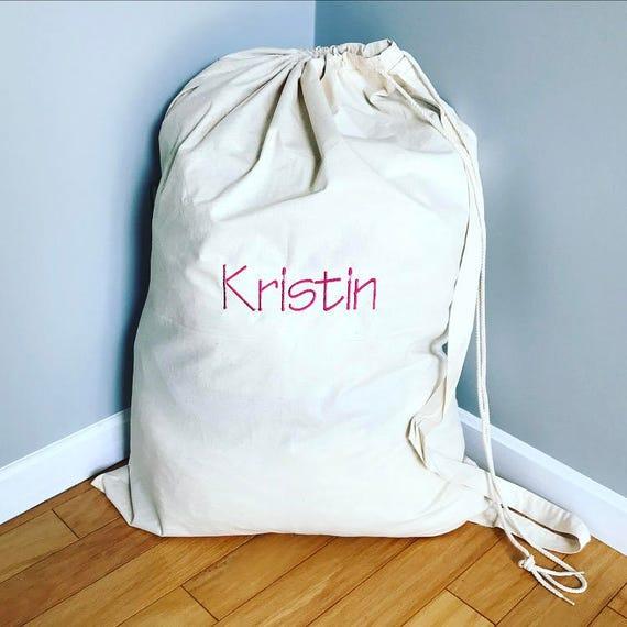 Personalized Laundry Bag Monogrammed Laundry Bag