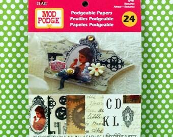 Mod Podge Podgeable Paper Flip Books - Romance Ephemera
