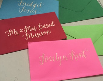 Creative ways to address an envelope wedding calligraphy