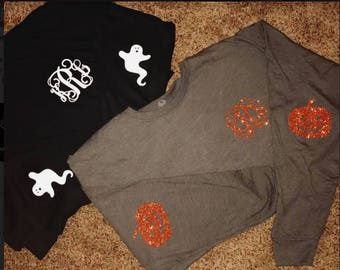 Halloween Long Sleeve Monogram Tee