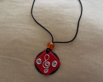 Aluminum NECKLACE made of polymer clay