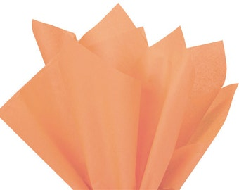 "Premium PEACH Tissue Paper Sheets for Gift Bags Wrapping 20""x30"" (Free Shipping!)"