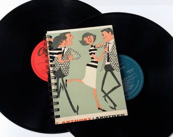 Swingin' on Campus,  Up-cycled Vinyl Album cover Notebook