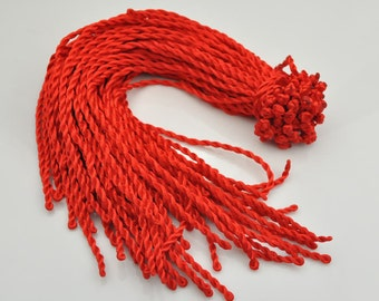 Silk necklace cord--20pcs 18-20 inch 4mm Red twist silk necklace cord with a loop and knot--G67