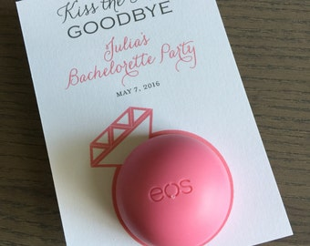Diamond Ring EOS Lip Balm Holder for Party Favors (20 Printed Card)
