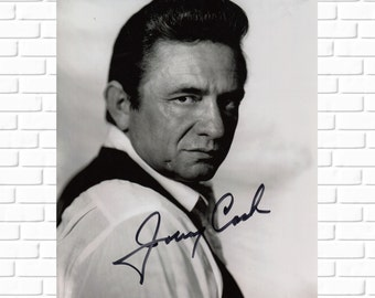 Johnny Cash - Autograph - Photo - Man in Black - Music - Country - Rock and Roll - Legend - Musician - Photograph - Print - Collectible