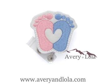 Baby Feet Badge Reel, Obstetrics Badge Reel, Pediatrics Badge Reel, Nurse Badge Reel, Cute Badge Reel, ID Badge Holder, Nurse Gift
