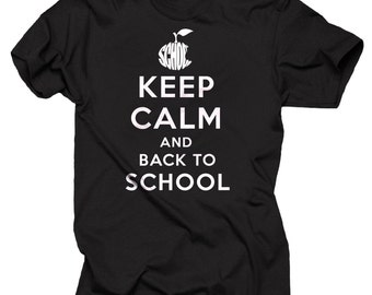 School T-Shirt Keep Calm And Back To School Tee Shirt Gift For Student Pupil