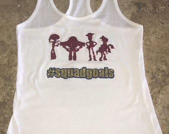 Disney Toy Story Inspired Squad Goals Woody Buzz Lightyear Bullseye Jessie Family Disney Shirts Hollywood Studios