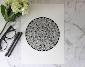 Mandala Two A4 and A3 print - Home Decor - Wall Art