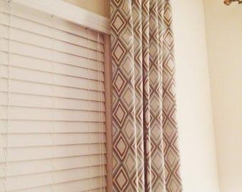 Custom Drapery Panels | Window Curtain Panels Treatments Annie Diamond fabric | Home Accessories