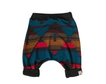 Red Navajo Harem Shorts, Navajo Shorts, Harem Shorts, Kids Navajo Shorts, Tribal Shorts