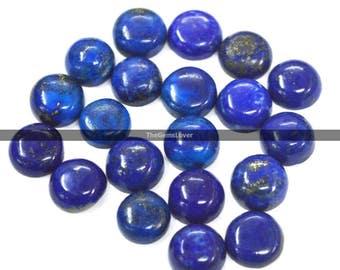 10 pieces 4mm lapis lazuli cabochon round gemstone Top Quality Natural lapis lazuli round cabochon Flat Back cabochon loose gemstone