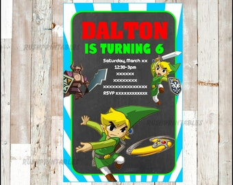 Zelda invitation etsy the legend of zelda invitation zelda birthday invitation the legend of zelda party invitation stopboris Gallery