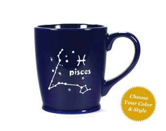 Pisces Zodiac Constellation Mug - Choose Your Cup Color