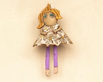 Dangling Doll Pensive Girl