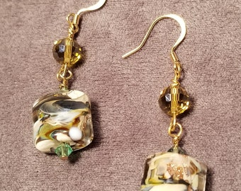 Earth Tone Lampwork Earrings