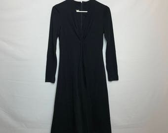 Elegant Vintage 1960s I Magnin Little Black Evening Dress