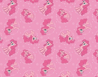 My Little Pony Fabric MLP Fabric Pinkie Pie in Light Pink From Camelot 100% Cotton