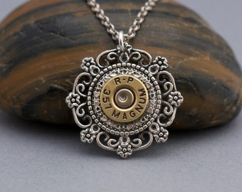 Choice 357 Bullet Necklace-Winchester 357 Mag-Federal 357 Necklace-Hornady 357 Magnum Necklace-R-P 357 Mag-WW Super 357-Hornady 357 Necklace