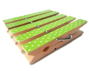 Chartreuse Green Clothespins. Chip Clips. Decorative Clothespins. Clothespin Magnet. Bag Clips. Wedding Clothespins. Large Clothespins