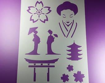 Template Japan Geisha Tori Asia Asia-BA72