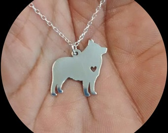 Schipperke Necklace - Engraving Pendant - Sterling Silver Jewelry - Gold Jewelry- Rose Gold Jewelry- Personalized Dog Jewelry Engrave Charm
