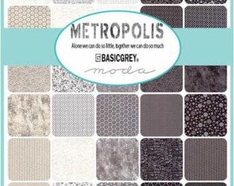 NEW - Metropolis Charm Pack by Basic Grey for Moda Fabrics