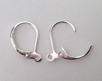 English crochet x 40 silver brass earrings