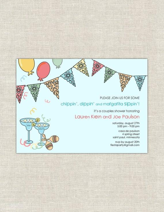Fiesta bridal shower invitations mexican themed wedding filmwisefo